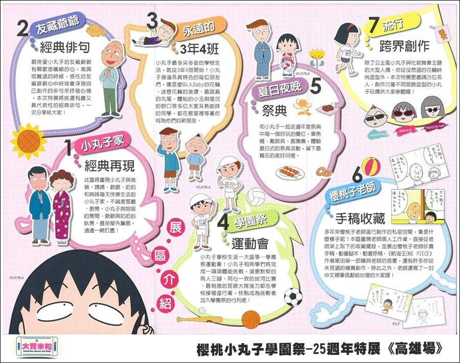 櫻桃小丸子學園祭-25週年特展(高雄場)@大胃米粒0002.jpg
