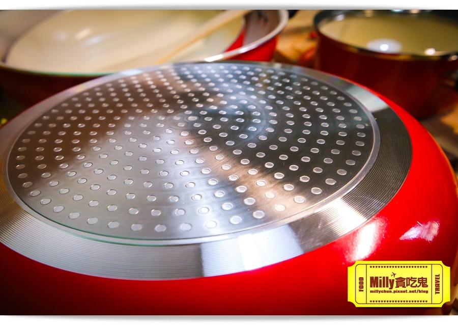 固鋼晶紅白陶瓷不沾鍋具0010