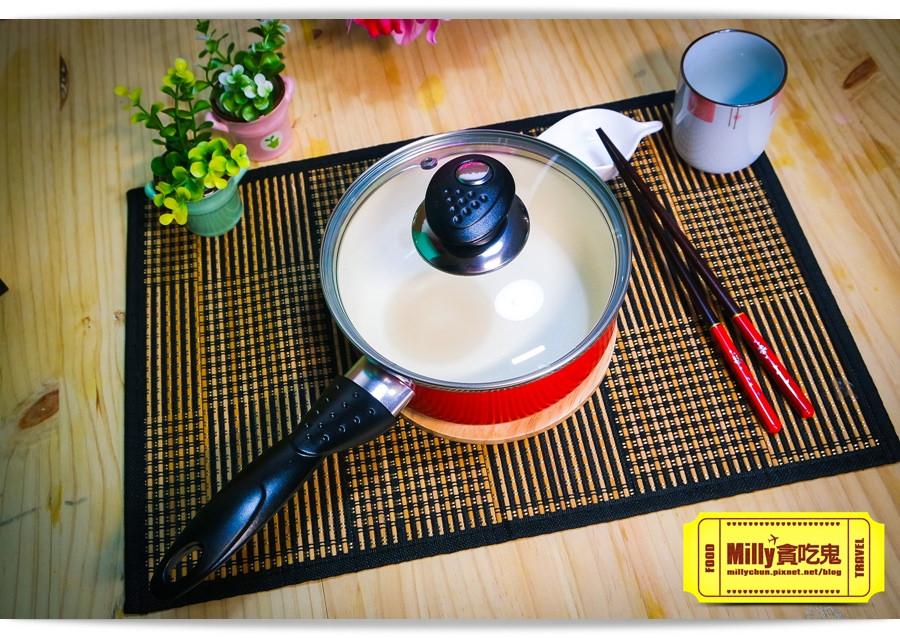 固鋼晶紅白陶瓷不沾鍋具0019