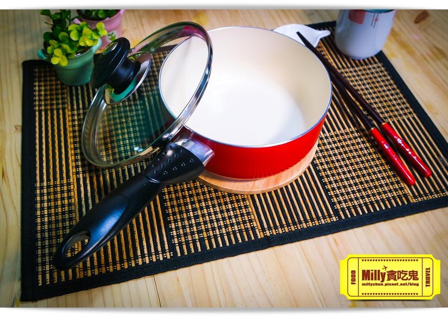 固鋼晶紅白陶瓷不沾鍋具0020